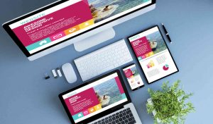 website design in frome example mobile and laptop